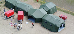 Medical tent as admissions