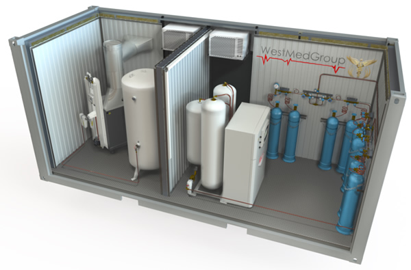 Visualization of the project Oxygen Container